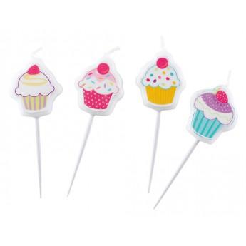4 bougies piques Cupcake