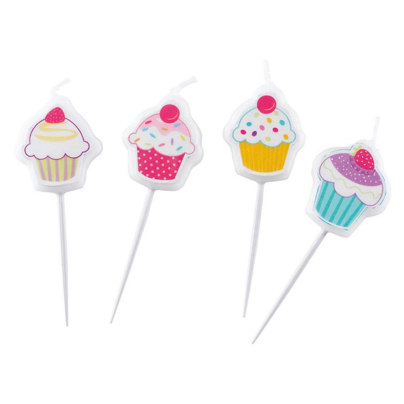Bougies piques Cupcake