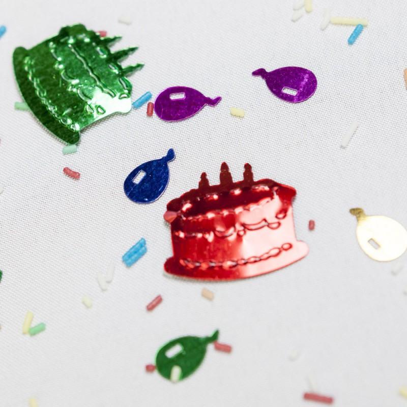 Confettis de table gâteaux & ballons
