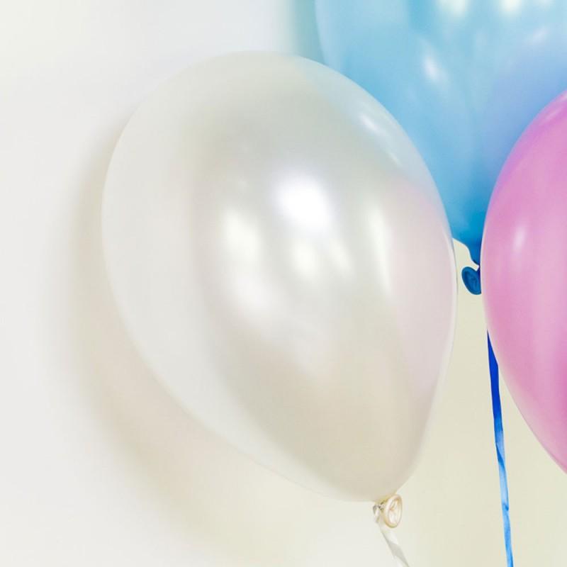 Ballons métallisés perle