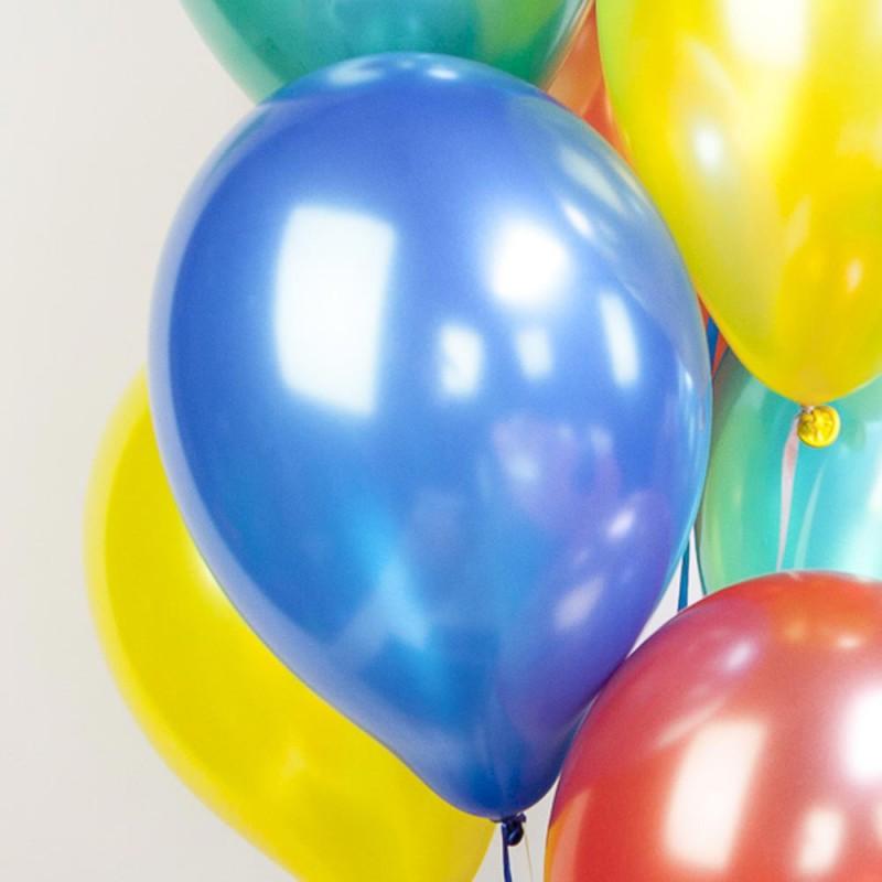 Ballons métallisés bleu foncé