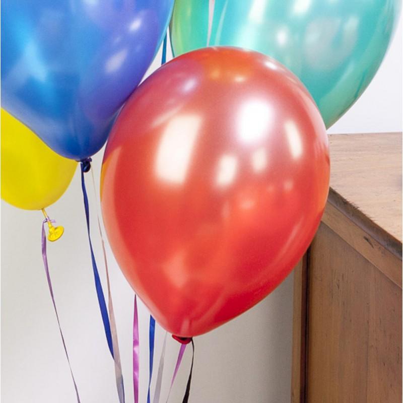 Ballons métallisés rouges