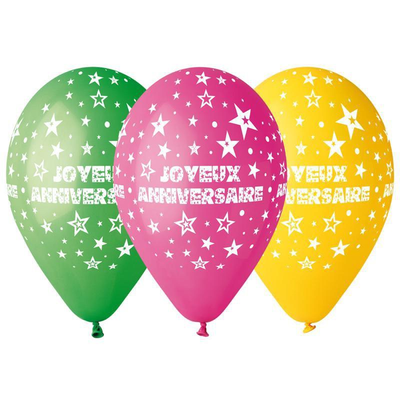 "Ballons ""Joyeux anniversaire"""