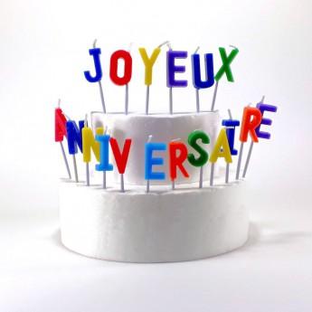 """Bougies lettres """"Joyeux..."""