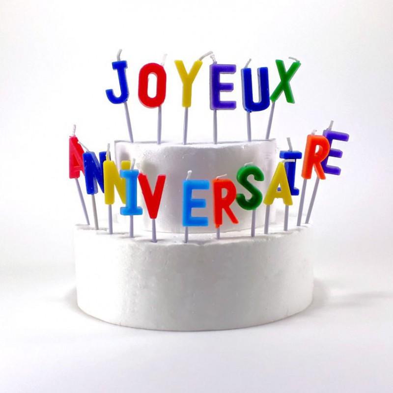 """Bougies lettres """"Joyeux Anniversaire"""""""