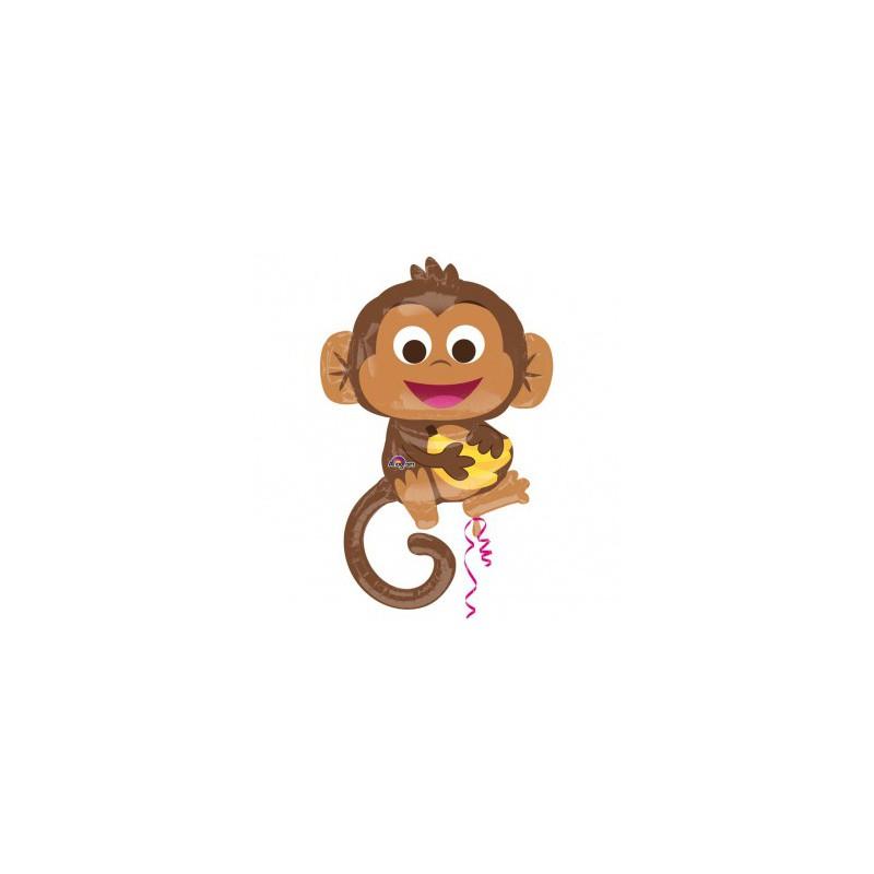 Ballon métallique géant bébé singe