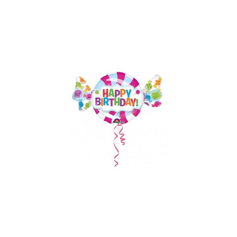 Ballon métallique bonbon d'anniversaire géant