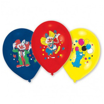 8 ballons clowns