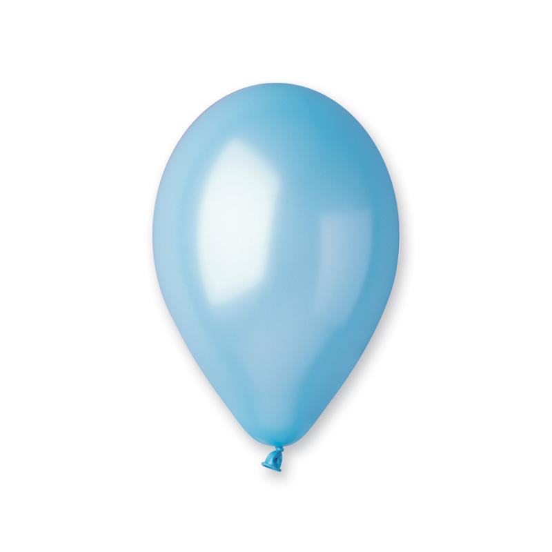 Ballons métallisés bleu lagon