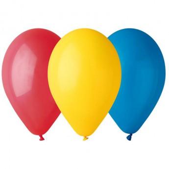 12 ballons multicolores
