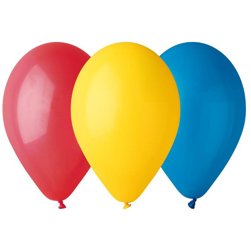 Ballons multicolores (x12)