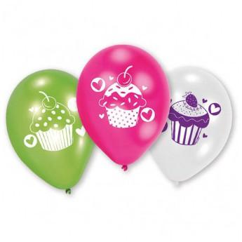 6 ballons Cupcake