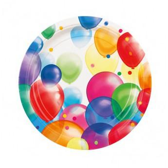 8 assiettes ballons...