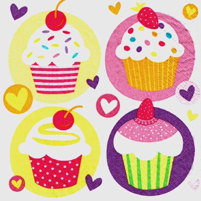 Serviettes Cupcake