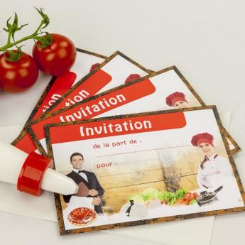 Invitation anniversaire cuisine