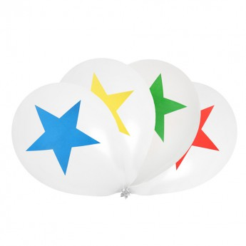 8 ballons étoiles