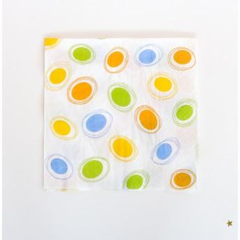 20 serviettes en papier...