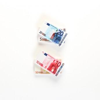 Gomme billet d'Euros