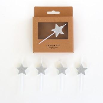 5 bougies piques étoiles...
