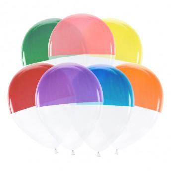 7 ballons dome bicolore
