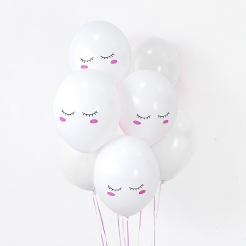 6 ballons nuages
