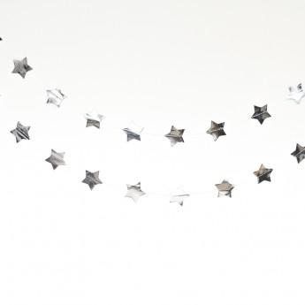 Guirlande étoiles argent 3,6m