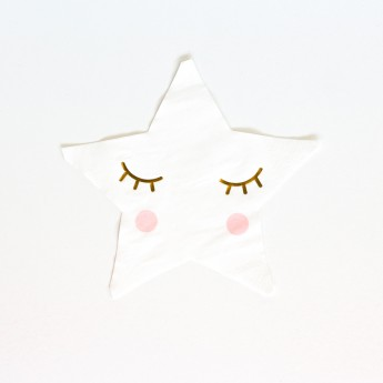 20 serviettes pliage étoile