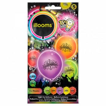 5 ballons lumineux Joyeux...