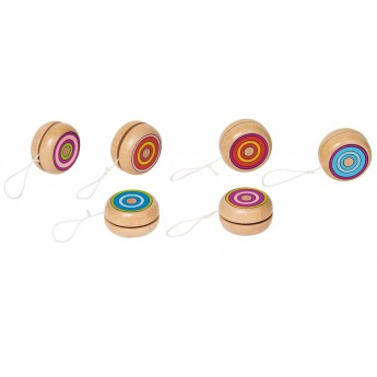 Yoyo en bois multicolore