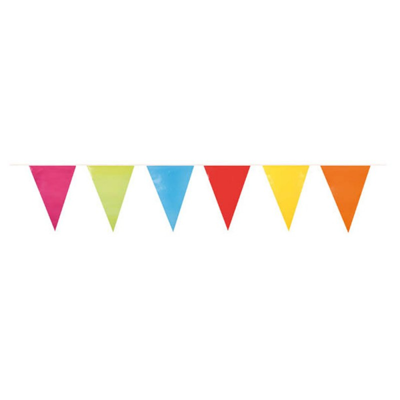 Guirlande multicolore à fanions