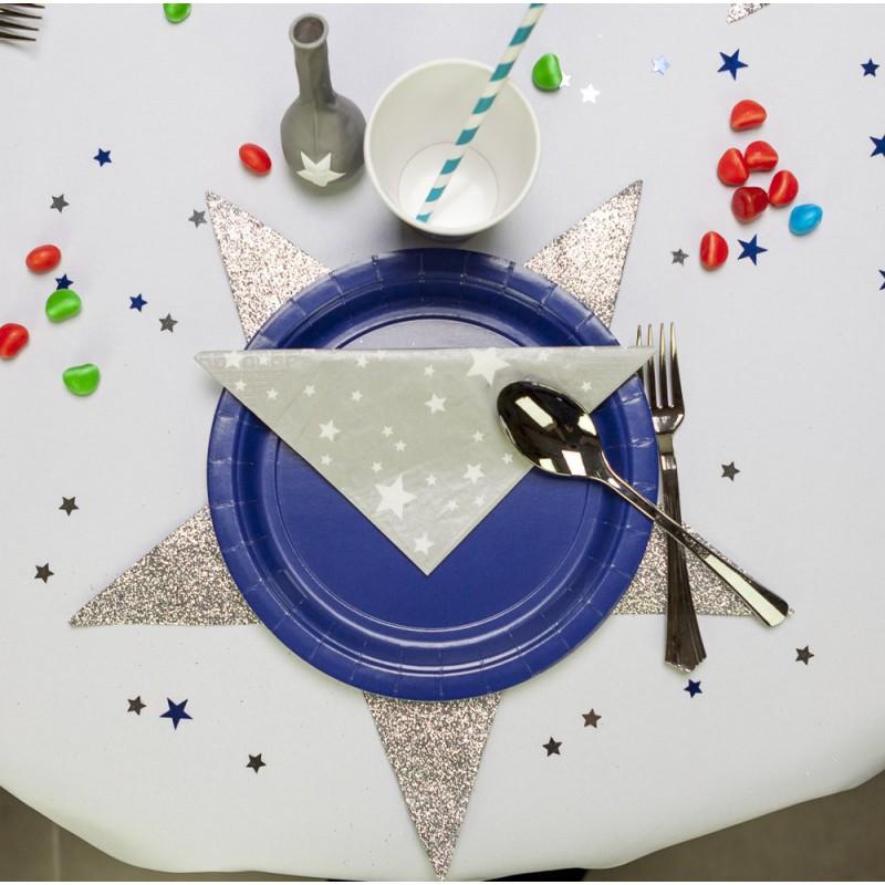 Set de table étoile pailletée (x2)
