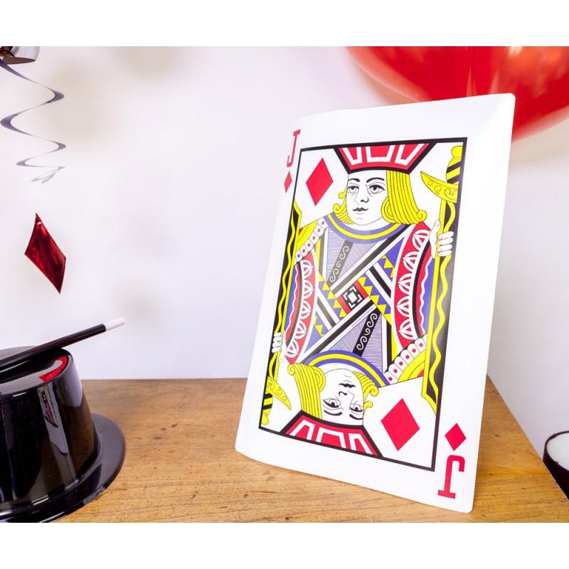 Cartes à jouer géantes (x4)