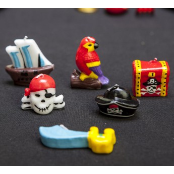 6 bougies figurines Pirates